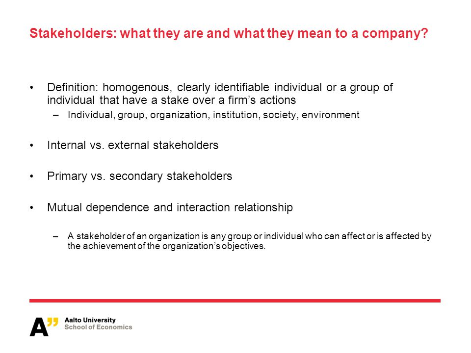 Stakeholders: what they are and what they mean to a company