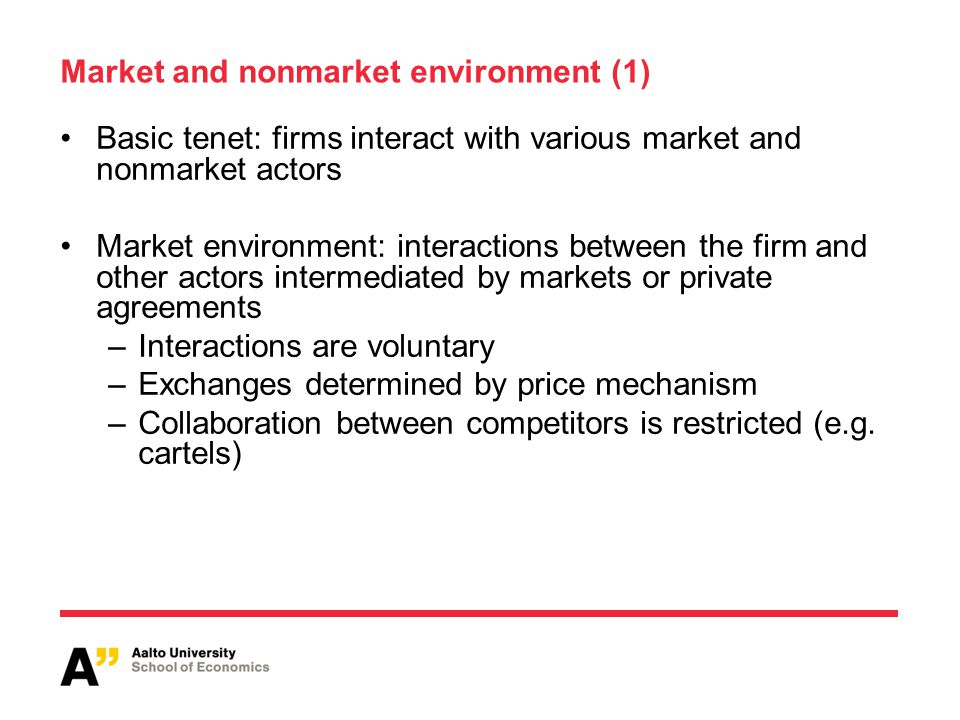 Market and nonmarket environment (1)