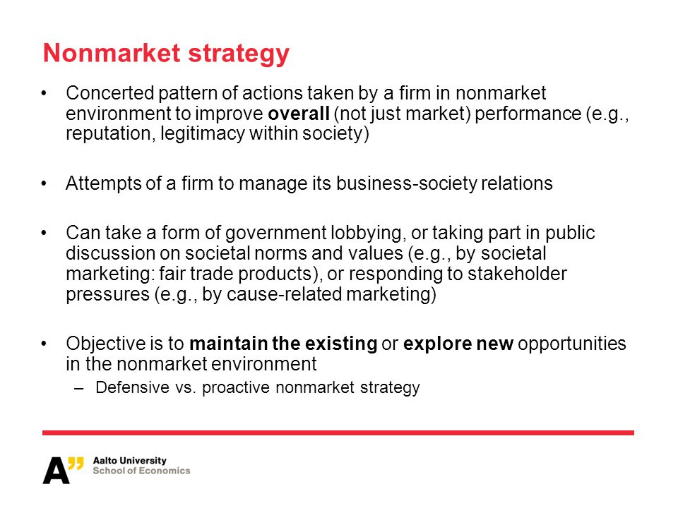 Nonmarket strategy