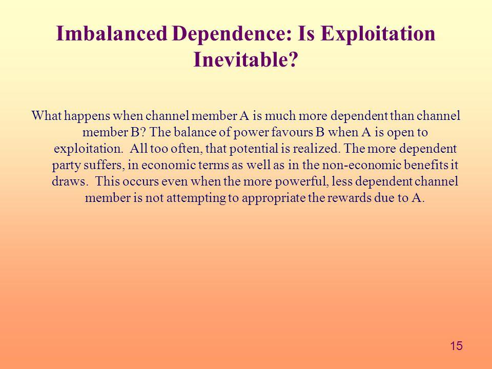 Imbalanced Dependence: Is Exploitation Inevitable