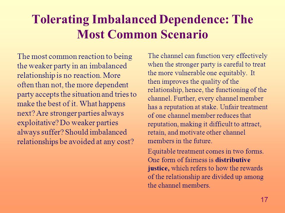 Tolerating Imbalanced Dependence: The Most Common Scenario