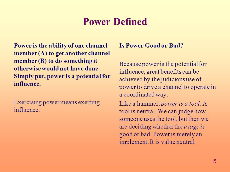 Power Defined