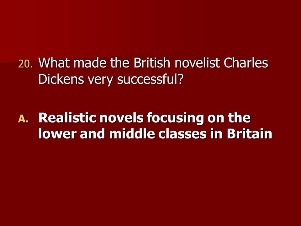 What made the British novelist Charles Dickens very successful