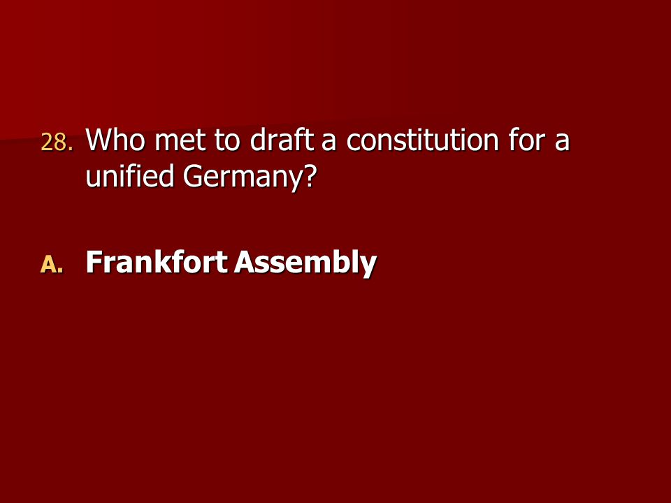 Who met to draft a constitution for a unified Germany