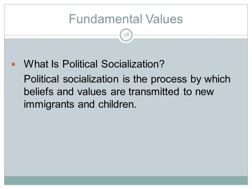 Fundamental Values What Is Political Socialization