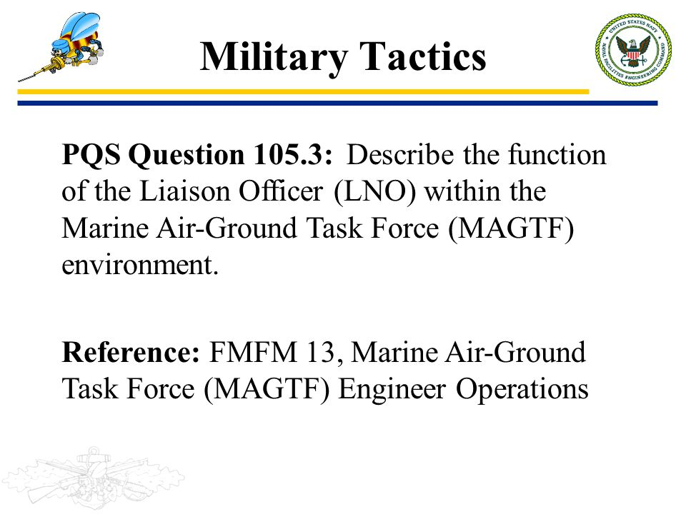 Military Tactics PQS Question 105.3: Describe the function of the Liaison Officer (LNO) within the Marine Air-Ground Task Force (MAGTF) environment.