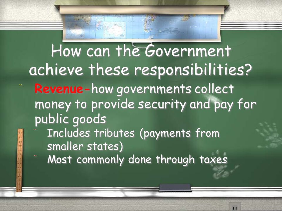 How can the Government achieve these responsibilities
