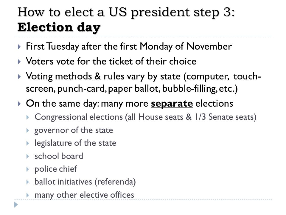 How to elect a US president step 3: Election day
