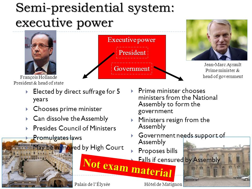 Semi-presidential system: executive power