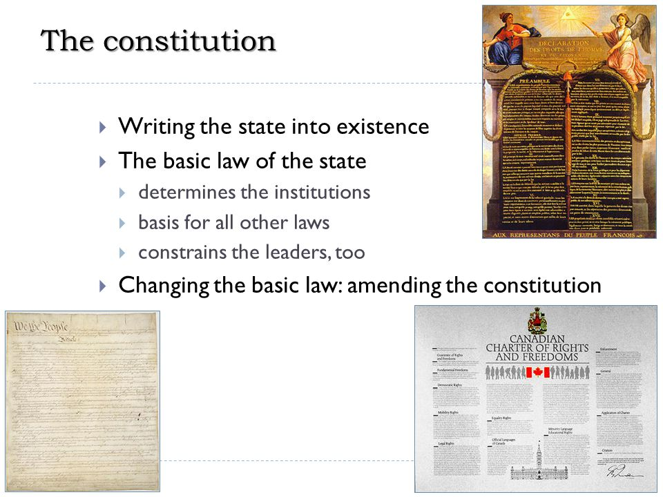 The constitution Writing the state into existence