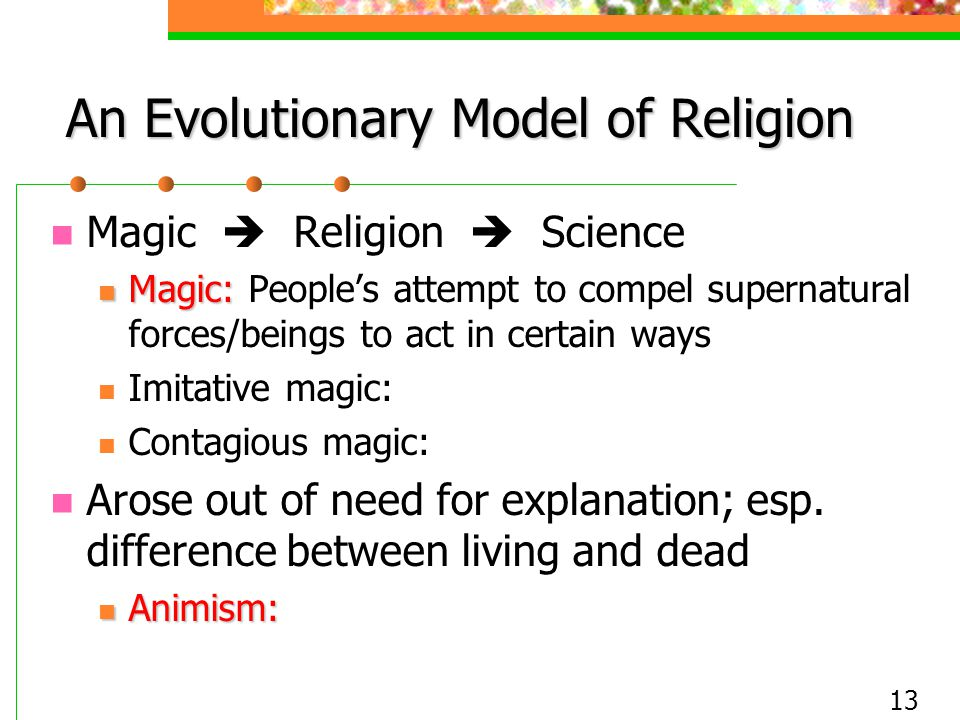 An Evolutionary Model of Religion
