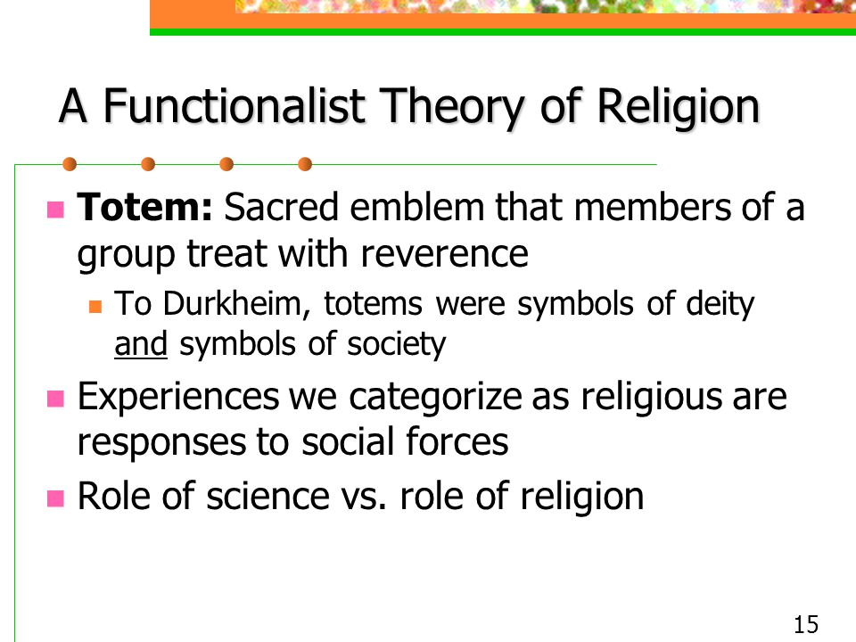 A Functionalist Theory of Religion