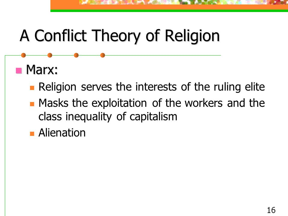 A Conflict Theory of Religion