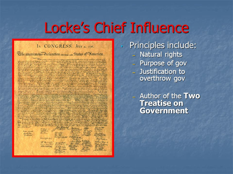 Locke's Chief Influence