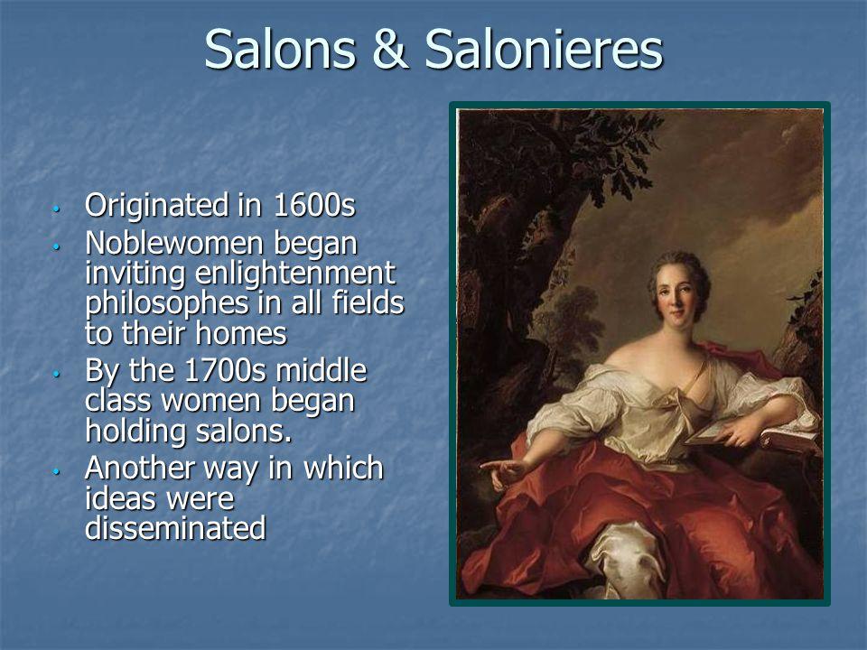 Salons & Salonieres Originated in 1600s