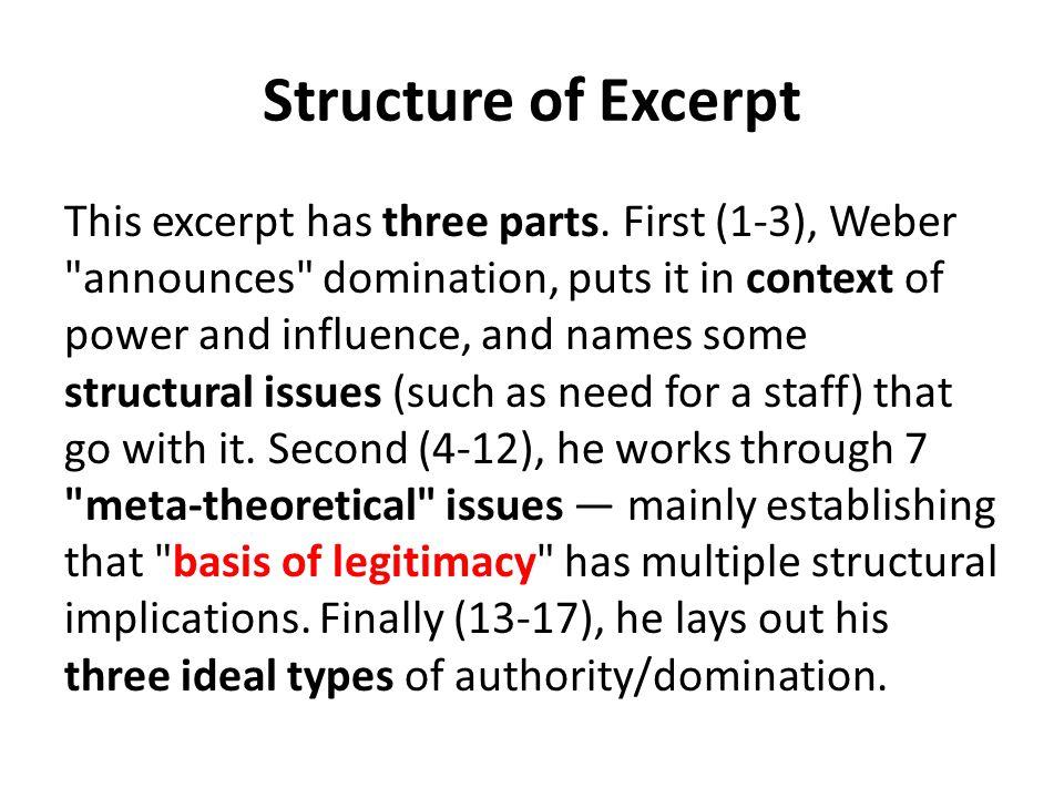 Structure of Excerpt