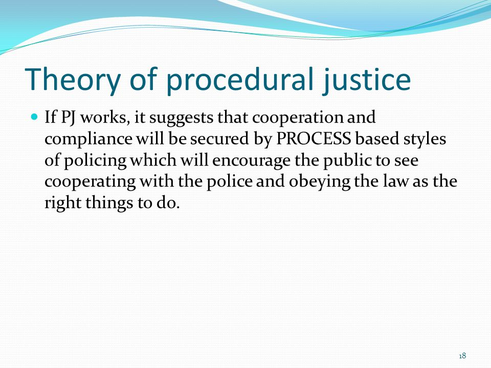 Theory of procedural justice