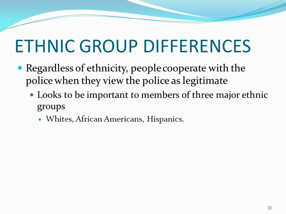 ETHNIC GROUP DIFFERENCES
