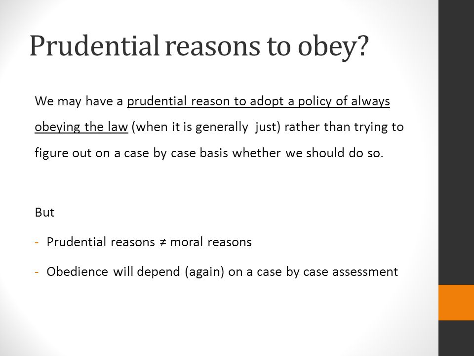 Prudential reasons to obey