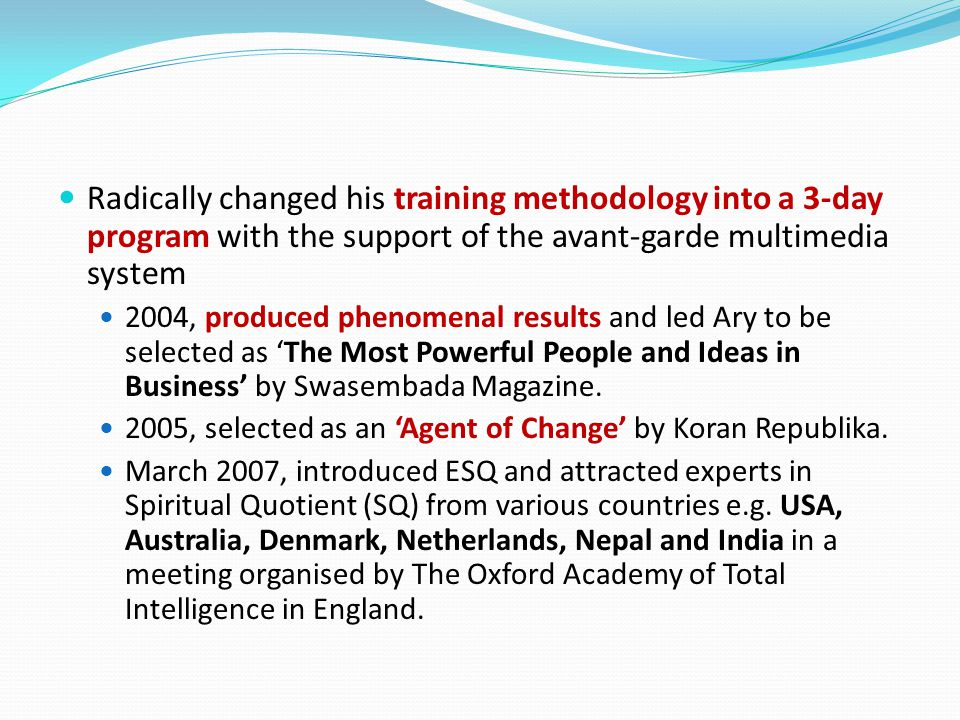 Radically changed his training methodology into a 3-day program with the support of the avant-garde multimedia system