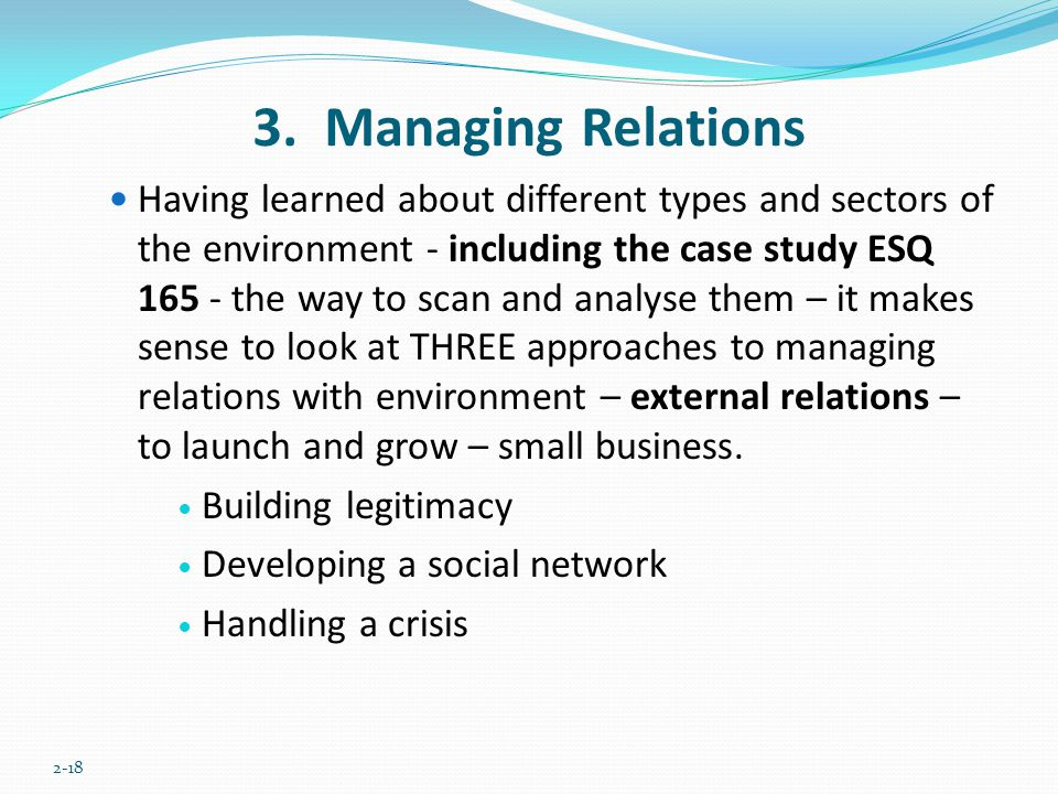 3. Managing Relations
