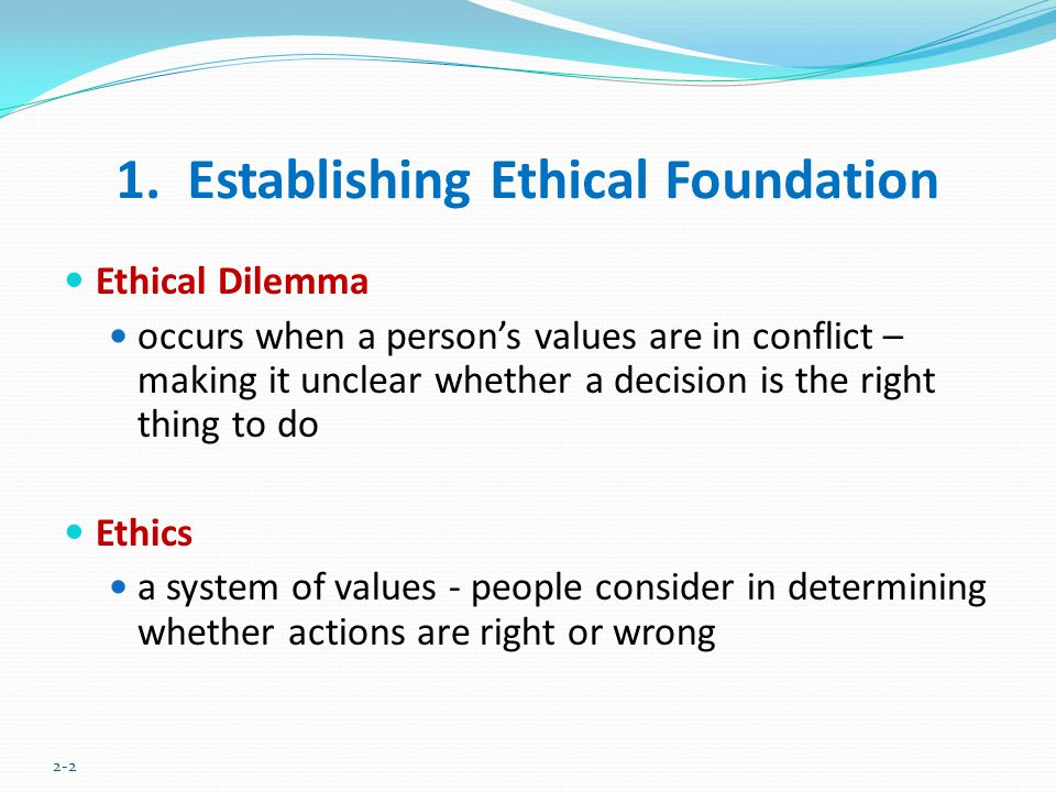 1. Establishing Ethical Foundation