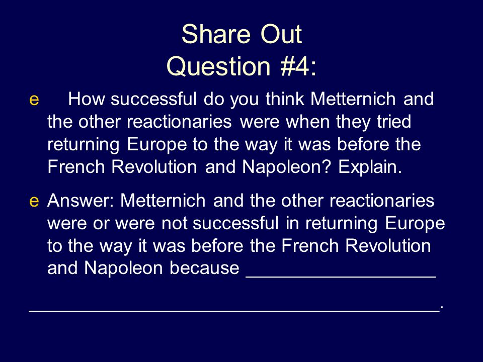 Share Out Question #4: