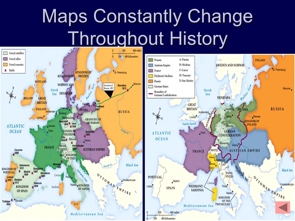 Maps Constantly Change Throughout History