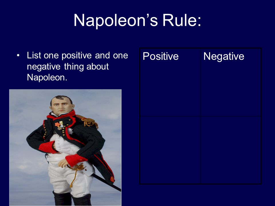 Napoleon's Rule: Positive Negative