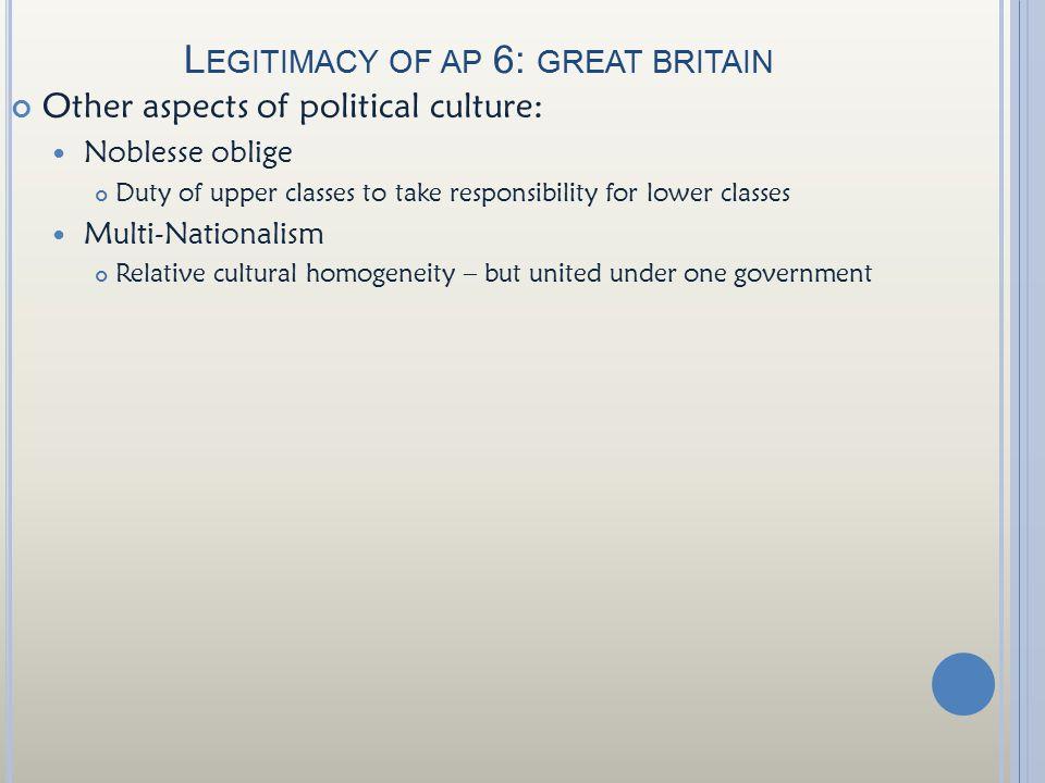 Legitimacy of ap 6: great britain