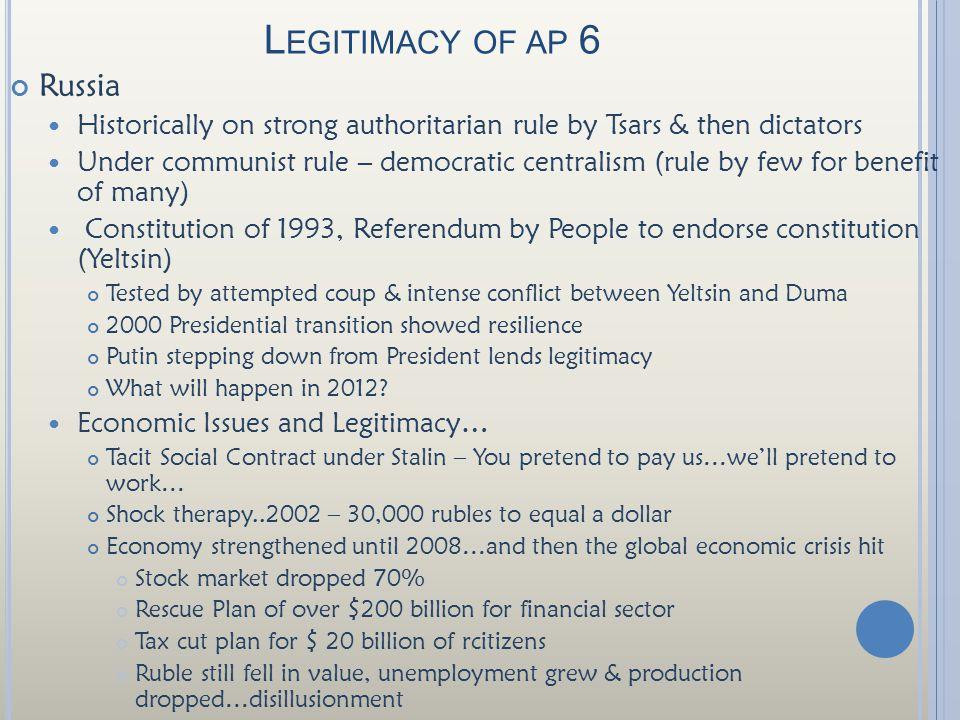 Legitimacy of ap 6 Russia