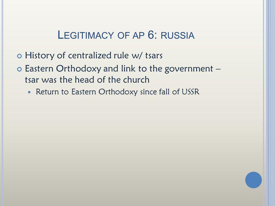 Legitimacy of ap 6: russia