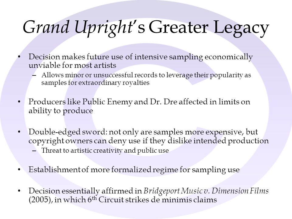 Grand Upright's Greater Legacy