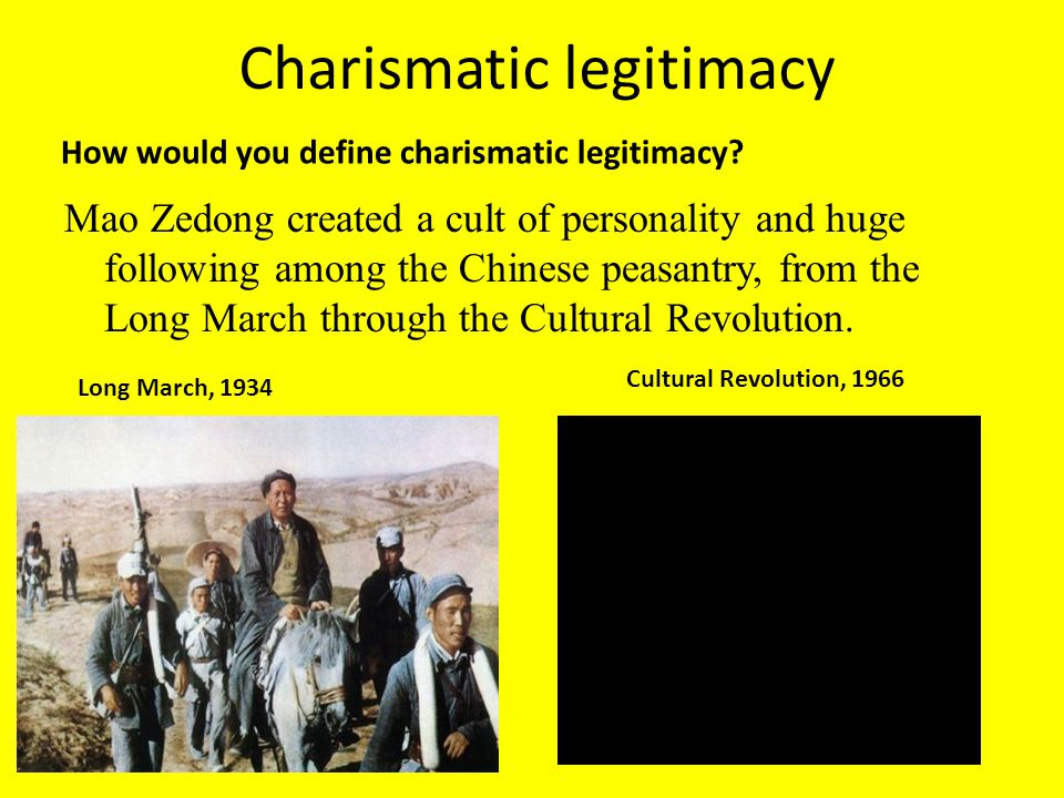 Charismatic legitimacy