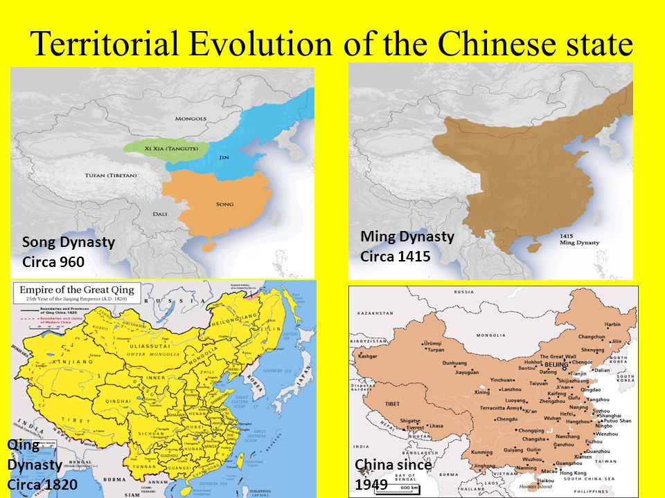 Territorial Evolution of the Chinese state