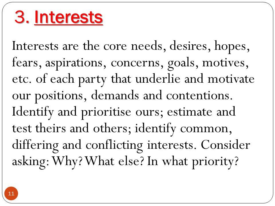 3. Interests