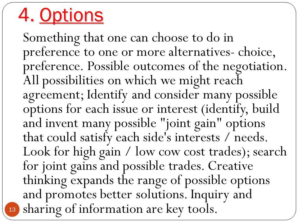 4. Options