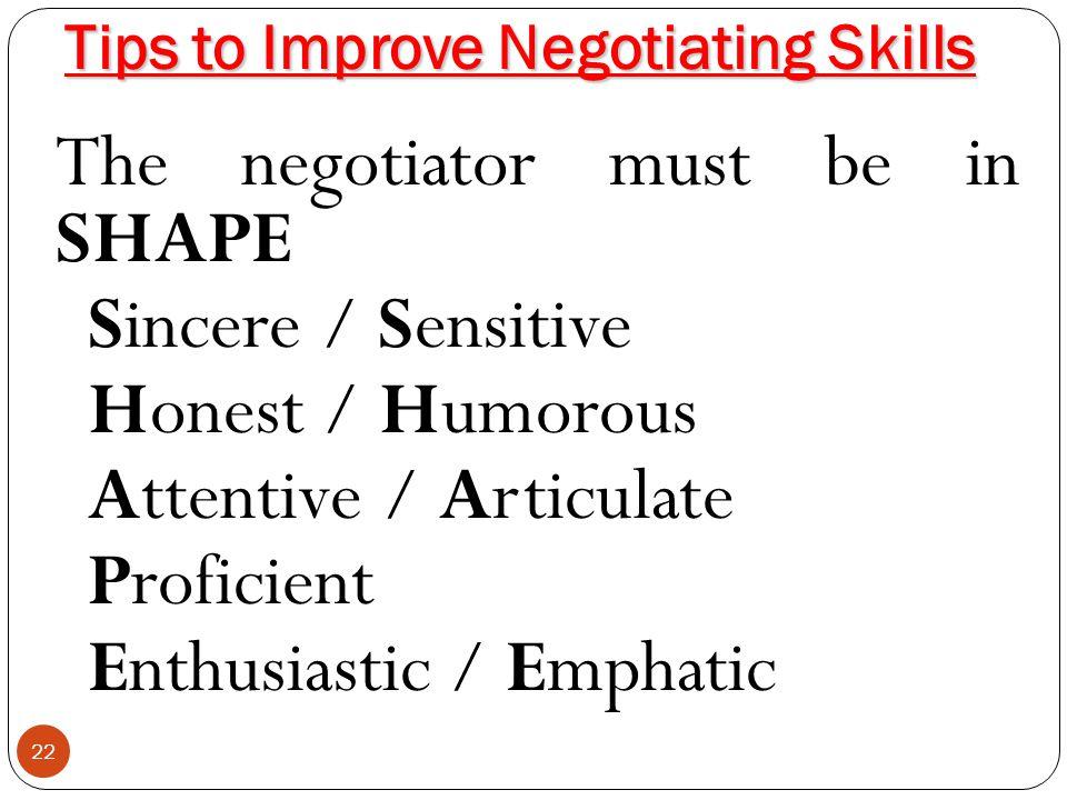 Tips to Improve Negotiating Skills