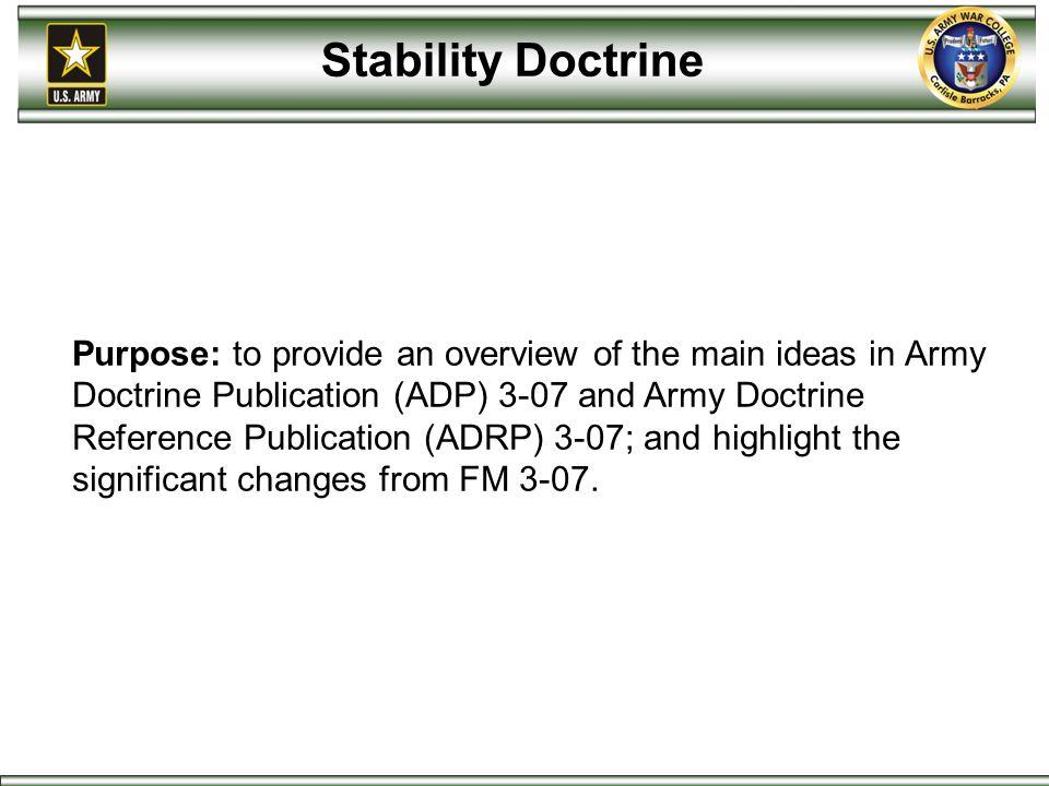 Stability Doctrine
