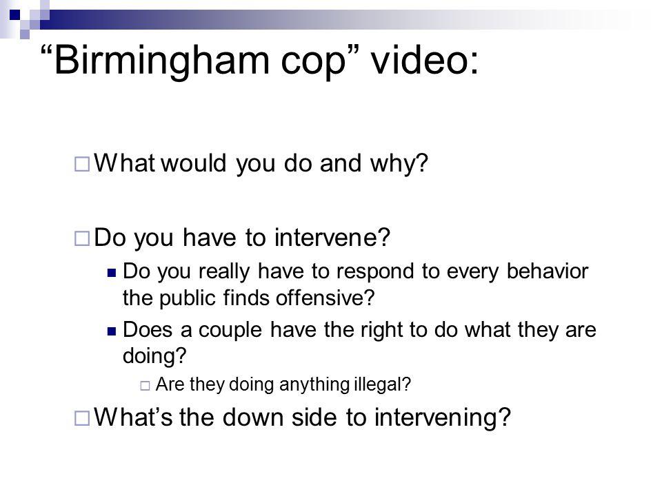 Birmingham cop video: