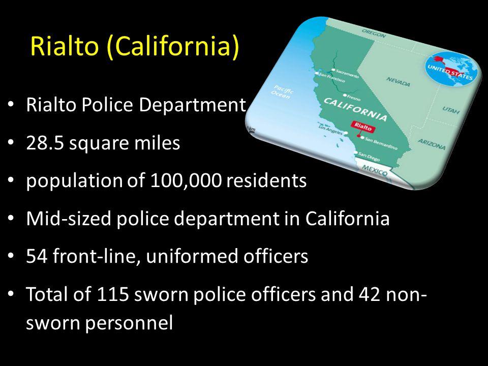 Rialto (California) Rialto Police Department 28.5 square miles