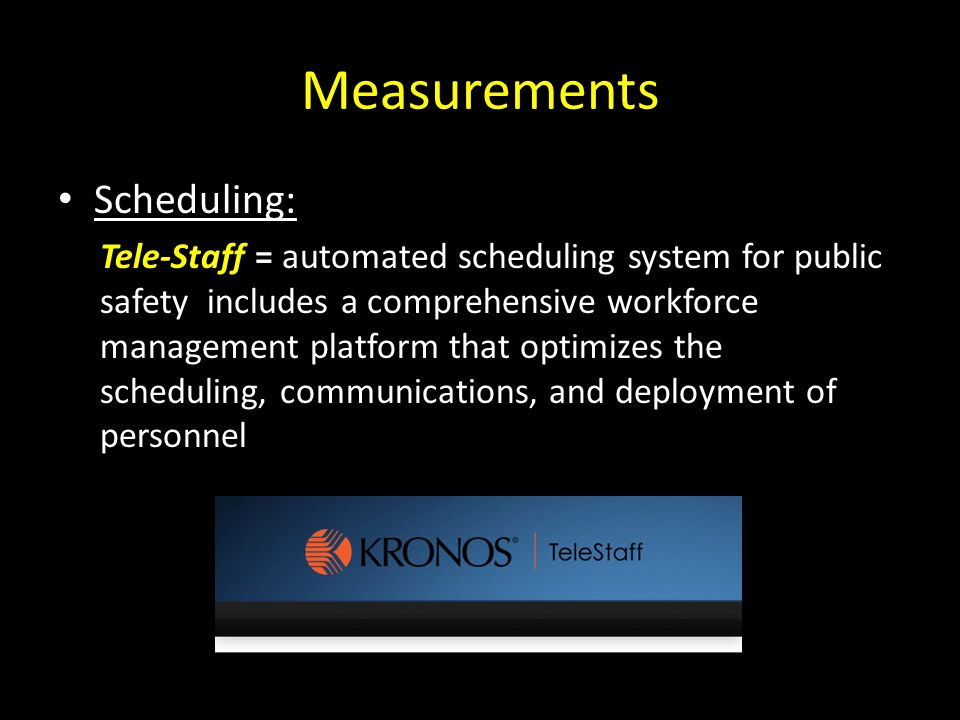 Measurements Scheduling: