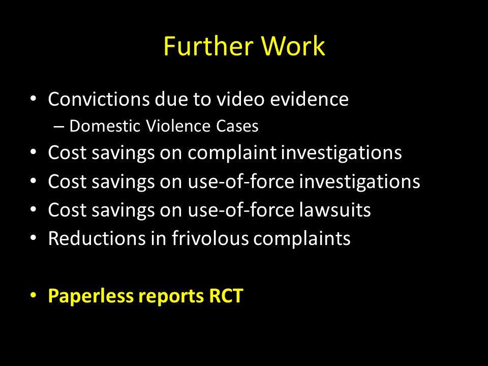 Further Work Convictions due to video evidence