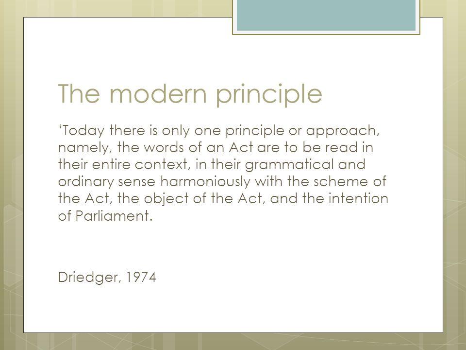 The modern principle