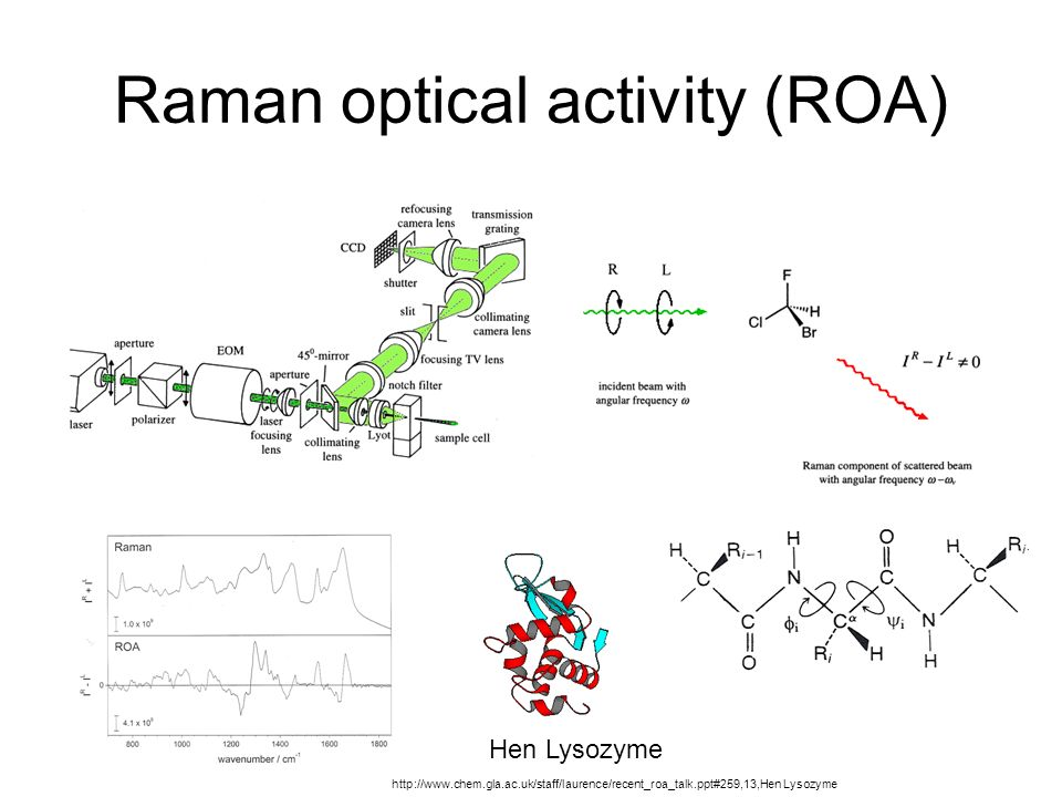 Raman optical activity (ROA)
