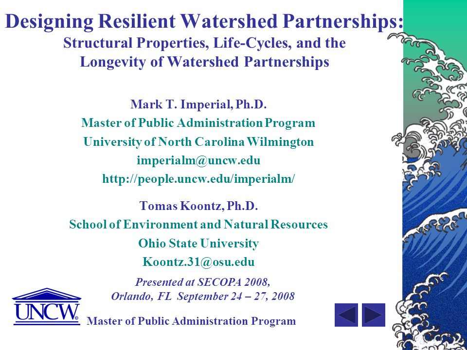 Designing Resilient Watershed Partnerships: Structural Properties, Life-Cycles, and the Longevity of Watershed Partnerships