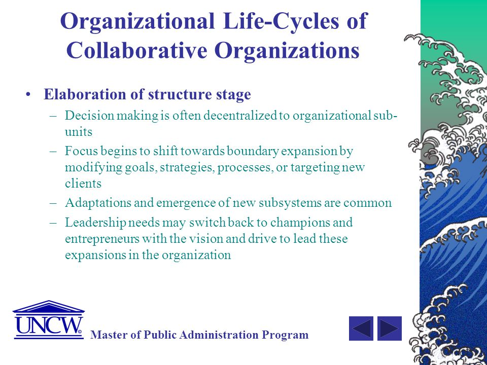 Organizational Life-Cycles of Collaborative Organizations