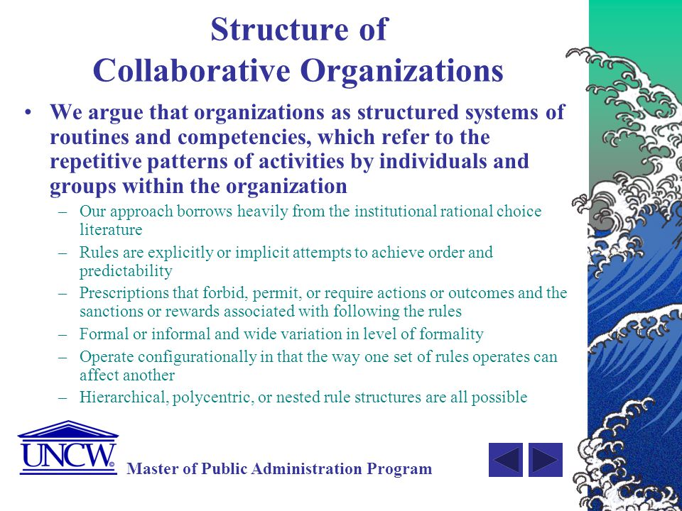 Structure of Collaborative Organizations