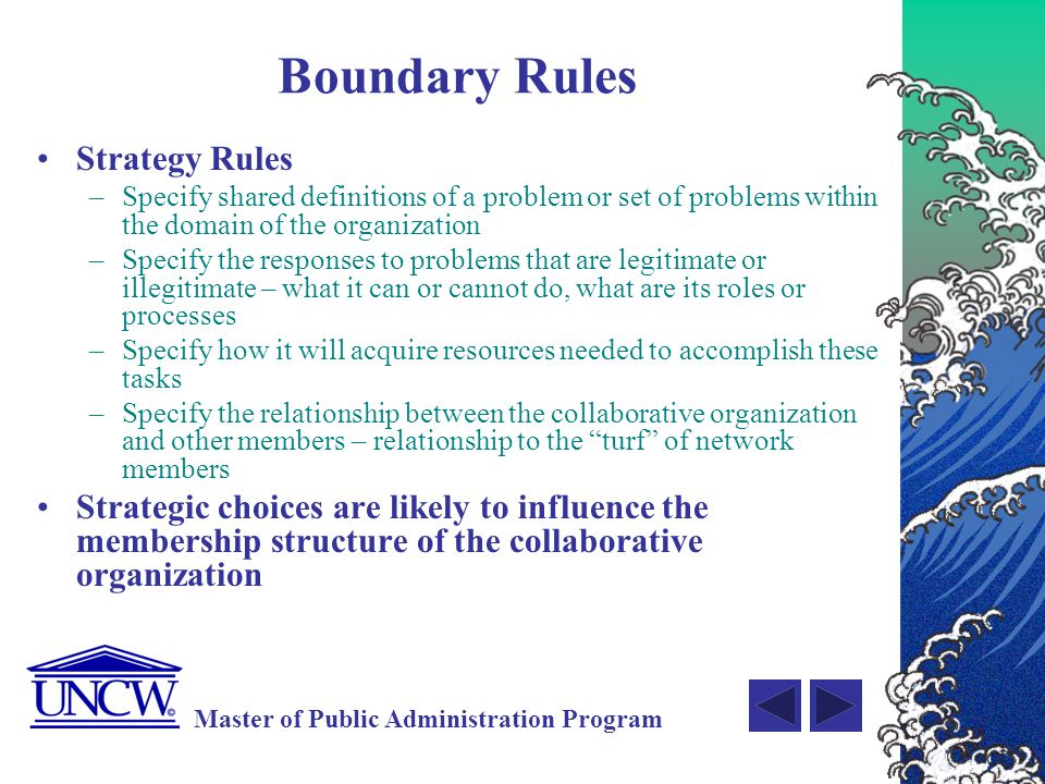 Boundary Rules Strategy Rules