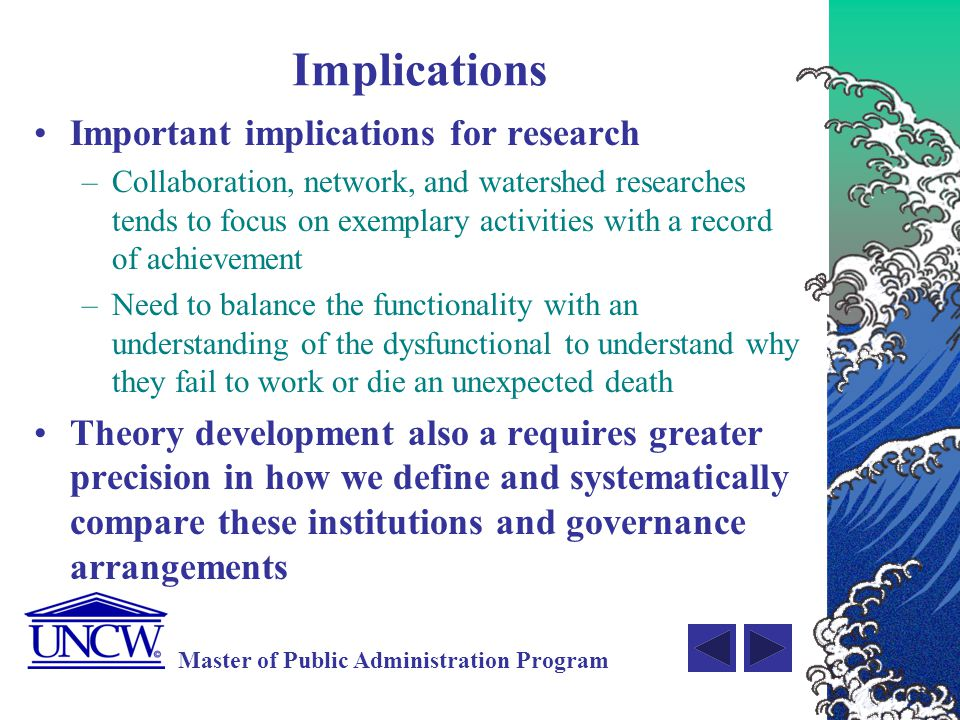 Implications Important implications for research
